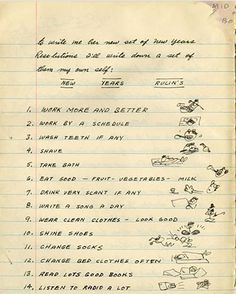 Love it.  Woody Guthrie's New Year's Resolutions Circa 1942.