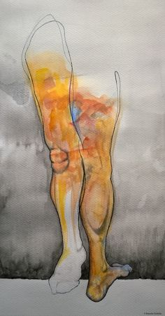 """""""Only one step to the Light"""" watercolors and ink on paper."""