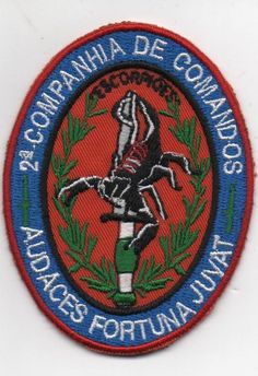 PORTUGAL PORTUGUESE COMANDOS COMMANDOS 2 COMP. CMD UNIT PATCH 83mm