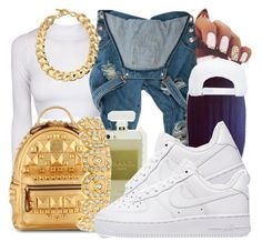 """""""Imani"""" by honey-cocaine1972 ❤ liked on Polyvore featuring MCM, NIKE and Michael Kors"""