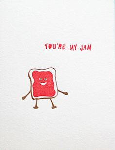 You're My Jam, letterpress card on Shop Pars Caeli