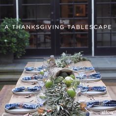 Give your guests a feast for their eyes — as well as their stomachs — with this gorgeous Thanksgiving tablescape.Give your guests a feast for their eyes with this gorgeous Thanksgiving tablescape.
