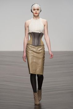 I like the modern take on a corset.  I like outfits that aren't bulky up top and emphasize waist.
