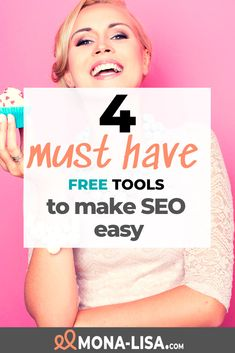 4 FREE must have tools to make seo easy! Must Have Tools, Growing Your Business, Must Haves, Online Business, Seo, Budgeting, Blogging, How To Make Money, Lisa