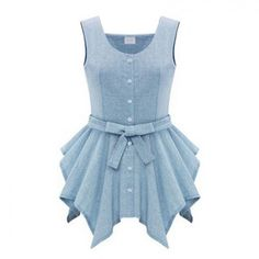 Irregular Bottom Solid Sleeveless Linen Dresses