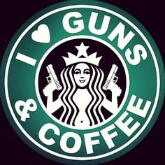 Enough said - who loves guns & coffee? #Glock40 #IcedCoffee #FlippingVegas #ScottYancey