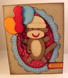 SOCK MONKEY made using SU! punches!
