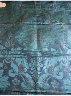 baroque fabric, antique French silk and linen jacquard