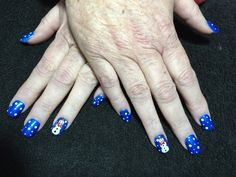 Gelish With Hand Painted Snowmen