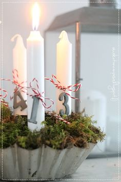 adventtikynttilät, vanha kakkuvuoka, joulu, sisustus, maalaisromanttinen koti