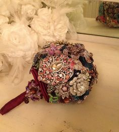 Brooch Bouquet Jeweled Bouquet