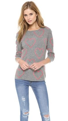Chinti and Parker Allover Heart Sweater http://rstyle.me/n/d8vx6r9te