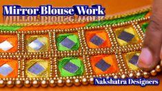 Easy Mirror Work Blouse Using thread work In Aari Embroidery   Nakshatra...