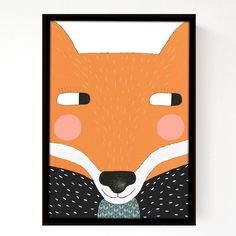 Big Fox A3 Print.  Seventytree.  aka. Kerry Layton.