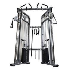 The TKO 9050 Functional Trainer is a commercial rated gym machine that features 2 shrouded weight stacks of 210 lbs. each with a resistance ratio level of and 22 adjustment positions per column. Weight Loss Plans, Fast Weight Loss, Weight Loss Tips, Lose Weight, Home Gym Equipment, No Equipment Workout, Fitness Equipment, Home Gym Machine, Training Fitness