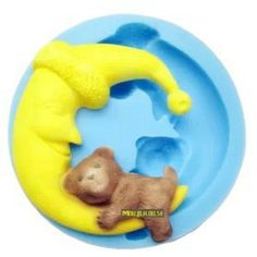 new 2013  moon bear silicone mold,fondant molds,sugar craft tools,chocolate mould ,resin flower cake decorating tools US $11.99