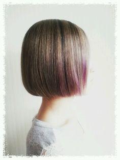 gray×Purple  low light   bob  hair color cut   hitomi.yanagida♥