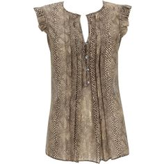 Donna Karan Iridescent silk-georgette blouse found on Polyvore