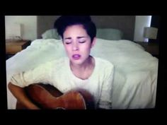 March 23rd, 2015. Kina Grannis performing in her bedroom on StageIt. She admitted to making her bed specifically for the show. https://www.youtube.com/watch?v=mTZSr6OYy0M