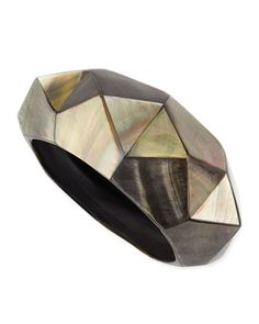 Pyramid Mother-of-Pearl Bangle by Viktoria Hayman at Neiman Marcus. $250