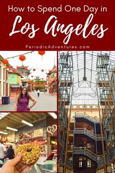 Heres my locals guide on how to spend one day in Los Angeles including the Original Farmers Market Chinatown the Last Bookstore and Los Angeles Sights, Los Angeles Food, Los Angeles Restaurants, Downtown Los Angeles, Weekend Getaways With Kids, Bradbury Building, The Last Bookstore, Los Angeles Museum, Vacation Trips