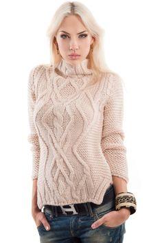 Женский белый вязаный пуловер с рисунком бабочкиГлавная Вязание женщинам спицы Свитера и пуловеры Женский белый