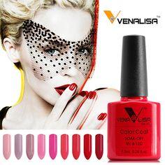 VENALISA Organic Odorless Gel Varnish 60 Color 7.5ml CANNI Nail Art Design 61508 French Tip Manicure Soak off UV Gel Nail Polish  Price: 1.89 USD