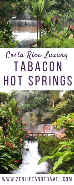 Looking for a luxury hot springs in Costa Rica? Check out Tabacon Thermal Resort & Spa. Hot Springs Arkansas, Colorado Springs, Puntarenas, Monteverde, Montezuma, Tamarindo, Fortuna Costa Rica, Tabacon Hot Springs, Surf