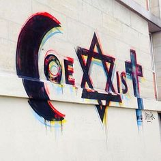 """Coexist"" Something new from Combo in Sarcelles, France #streetart #streetartnews"