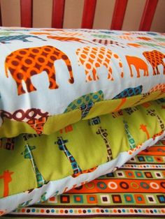 modern baby bedding | MODERN circus animal baby bedding bumper fitted sheet and bed skirt