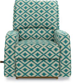 Cole Reclina-Rocker® Recliner by La-Z-Boy  @Amy Jane @Lauren Varner  What do you ladies think about this pattern? For the nursery, I kind of LOVE this pattern but it also comes in turquoise (no print)