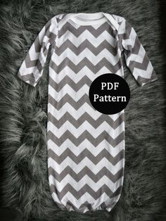 Baby sewing pattern Newborn gown PDF pattern easy by lippybrand
