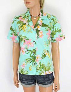 Tropical Cotton Hawaiian Shirt for Women Kapalua – Twisted Palms Trading Co.