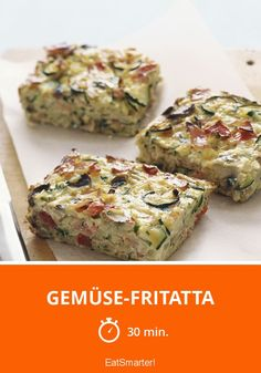 Gemüse-Fritatta low-carb