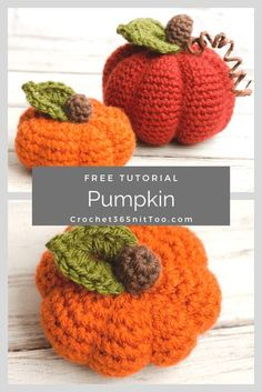Make this easy and fast crochet pumpkin pattern! Crochet Gifts, Diy Crochet, Crochet Hooks, Crochet Pumpkin Pattern, Halloween Crochet Patterns, Thanksgiving Crochet, Fast Crochet, Crochet Leg Warmers, Crochet Decoration