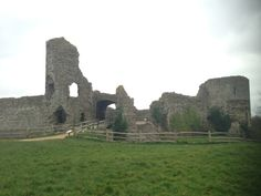 Pevensey Castle in Pevensey, East Sussex