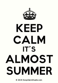 'Keep Calm It's Almost Summer' made on Keep Calm Studio: Create your own custom 'Keep Calm It's Almost Summer' posters » Keep Calm Studio