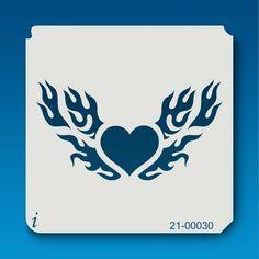 21-00030 Flaming Heart Decorative Stencil