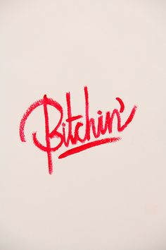 typography done in lipstick.
