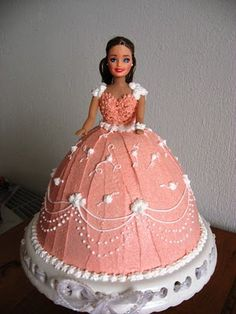 Princess Barbie Cake - Sorry no recipe, just the picture of the cake. 4/14/13