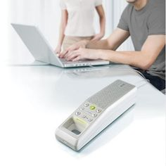 Here's a very braun looking speakerphone.  I have no need for a speakerphone for my computer, but if I did I would get this
