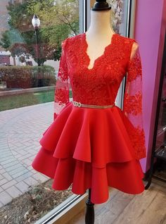 68ccf3cd09c Le Obsession Boutique. Red Lace Cocktail DressHoliday ...