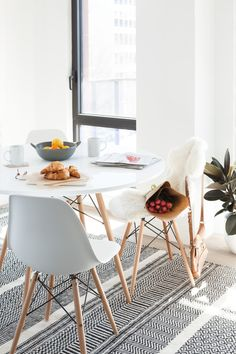 EIFFEL - Wooden dining chair - White