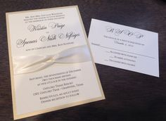 Classic Wedding Invitation,Elegant Wedding Invitation,Infinity Wedding Invitation,Ivory Wedding Invitation, Champagne Wedding Invitation