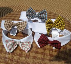 This stylish holiday tartan /checks plaid pet bow tie is the perfect accessory for stylish cats + dapper little dogs, whether its for Christmas, Valentines Day, a wedding or just everyday cuteness. You wont be able to stop snapping photos! Note: Our bow ties are detachable for easy