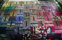 Dad's Charm by cauchy09, via Flickr: Now this an attractive quilt made out of ties!