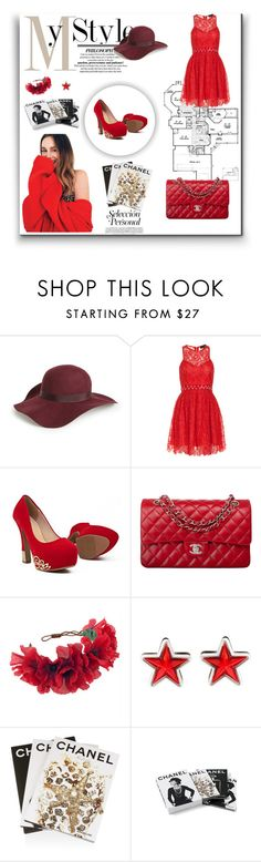 """""""red color is most beautiful color"""" by meladelic ❤ liked on Polyvore featuring Topshop, StyleStalker, Chanel, Rock 'N Rose, Givenchy, Assouline Publishing, women's clothing, women's fashion, women and female"""