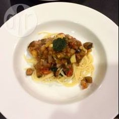 Lentil and Eggplant Bolognaise A vegetarian meal that is super hearty @ allrecipes.com.au