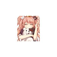 Junko Enoshima ❤ liked on Polyvore featuring anime