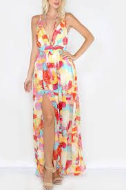 #Sleeveless Plunging #VNeck #PrintedMaxidress #LookFamous,#Lookoftheaday,#Maxidresses,#Women